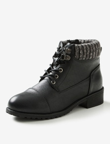 Riversoft Sherpa Collar Lace up Boot