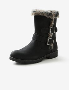 Riversoft Faux Fur Mid Buckle Boot