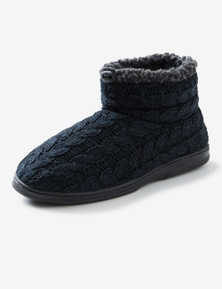 Rivers Cable Knit Slipper Boot