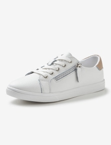 Rivers Leathersoft Zip Lace Up Sneaker