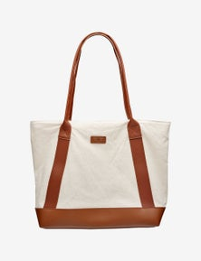 Rivers Canvas Tan Tote Handbag
