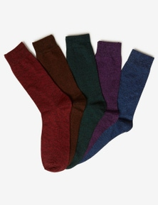 Rivers 5 Pack Mens Crew Socks