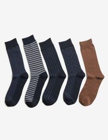 Rivers 5 Pack Mens Crew Socks