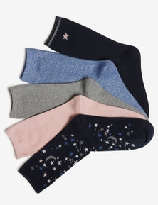 Rivers 5 Pack Women's Crew Socks
