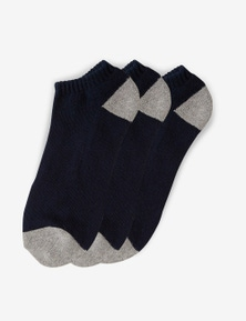 Rivers 3 Pack Ankle Socks