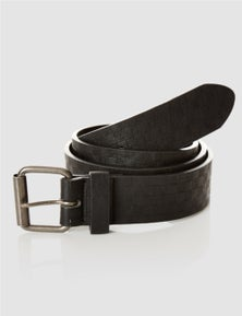 Rivers Men's Leather-Look Belt