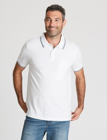 Rivers Short Sleeve Tipped Pique Polo