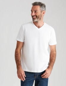 Rivers Short Sleeve Basic V-Neck Tee