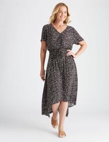 Rivers Short Sleeve Shirred Waist Maxi Dress