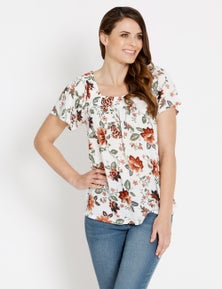 Rivers Short Sleeve Square Neck Tee
