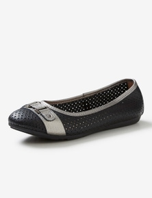 Rivers Leathersoft Trim Ballet Flat