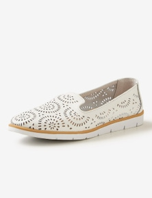 Rivers Leathersoft Lasercut Slip-On