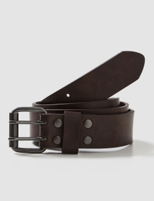 Rivers Bonded Leather Double Prong Belt
