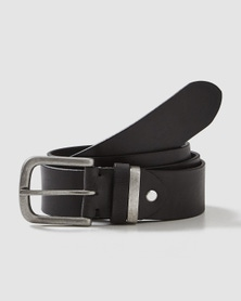 Rivers Full Grain Leather Metal Keeper Belt