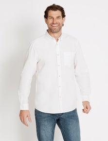 Rivers Long Sleeve Cotton Oxford Shirt