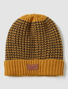 Rivers Mustard Knitted Beanie