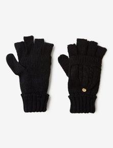 Rivers Knitted Fingerless Mittens