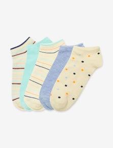 Rivers 5 Pack Womens Essential Fashion Socks