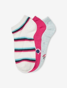 Rivers 3 Pack Ankle Fashion Socks
