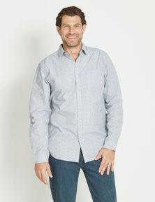Rivers Long Sleeve Cotton Geo Print Shirt