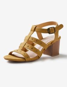 Riversoft Studded Block Heel Sandal
