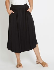 Rivers Curve Hem Jersey Maxi Skirt