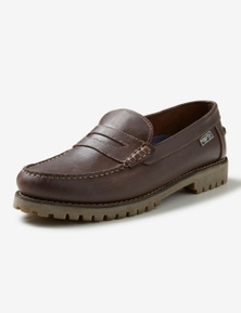 Rivers Leather Cleat Penny Boat Shoe
