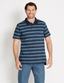 Rivers Short Sleeve Stripe Jersey Polo