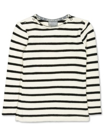 Pumpkin Patch Slub Stripe Long Sleeve Top
