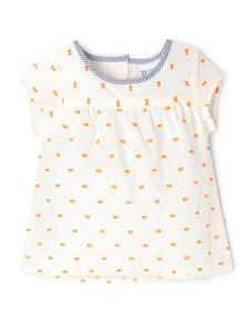 Pumpkin Patch Baby Girl Dobby Top