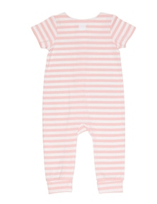 Pumpkin Patch Unisex Baby Short Sleeve Stripe Jumpsuit