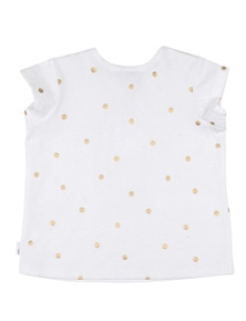 Pumpkin Patch Baby Girl Cap Sleeve Foil Spot Tee