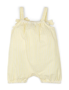 Pumpkin Patch Baby Girl Seersucker Romper