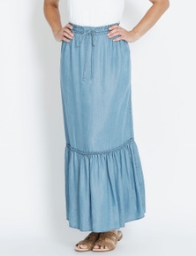 Rivers Tiered Lyocell Maxi Skirt