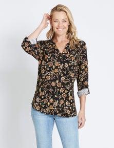 Rivers Drag Up Sleeve Rayon Shirt