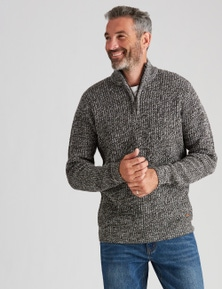 Rivers Acrylic Wool Zip Neck Jumper