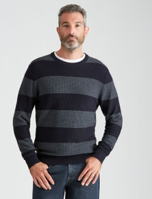 Rivers Fisherman Stripe Crew Neck Jumper
