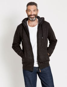 Rivers Borg Lined Knit Zip Hoodie