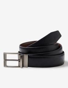 Rivers Stretch Reversible Black Choc Belt