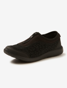 Rivers Barefoot Memory Foam Zip Slip-On