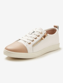 Rivers Leathersoft Zip Lace-Up Sneaker