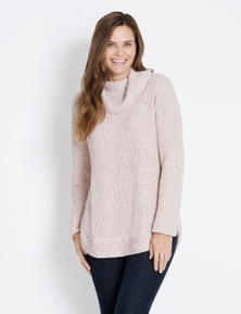 Rivers Roll Neck Curved Hem Jumper