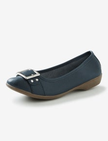 Rivers Leathersoft Trim Casual Ballet