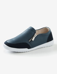 Rivers Leathersoft Double Zip Casual Shoe