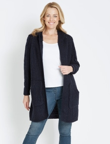 Rivers Cable Hooded Coatigan