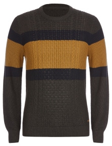 Rivers Cable Stripe Jumper