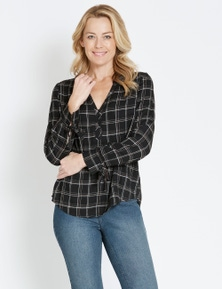 Rivers Covered Button Check Shirt