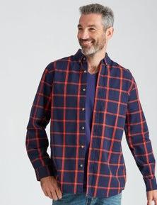Rivers Long Sleeve Cotton Window Pane Check Shirt