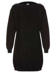 Rivers Button Shoulder Knit Dress