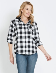 Rivers Hooded Flannel Check Shirt